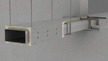 Fire Fire insulated rectangular duct