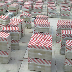 Paroc insulation pallets on roof