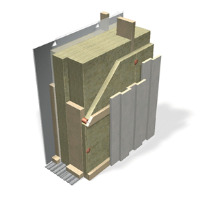 Ventilated facade, passive house